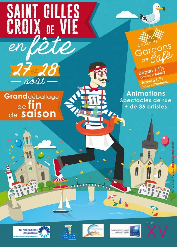 Affiche de Saint Gilles Corix de Vie en Fête 27 et 28 août 2016